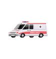 cartoon ambulance car isolated on white background vector image vector image