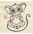 Chinese zodiac Monkey vector image vector image
