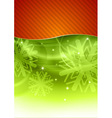 christmas background in the red and green vector image vector image