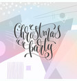 christmas party - hand lettering poster to winter vector image