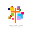 church logo and cristian symbols vector image vector image