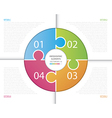 Circle Puzzle Infographic vector image vector image
