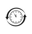 clock refresh icon vector image vector image