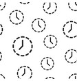 clock time icon seamless pattern background vector image vector image