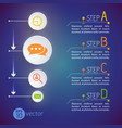 creative communication steps concept vector image vector image