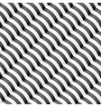 diagonal wavy stripped seamless pattern vector image vector image