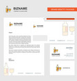 drinks business letterhead envelope and visiting vector image vector image