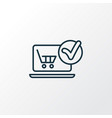 e-commerce solution icon line symbol premium vector image