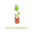 eco energy icon design vector image vector image