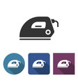 electric iron icon in different variants with vector image vector image