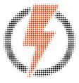 electricity halftone icon vector image