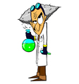 Evil mad scientist vector image vector image