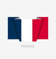 flag of france flat icon waving flag with country vector image