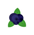 fresh blueberry icon flat style vector image vector image