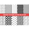 geometric minimalistic patterns set vector image vector image