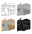 grand canyon icon in cartoon style isolated on vector image vector image