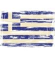 Greek grunge flag vector image vector image