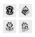 heavy rock music badge vintage label vector image