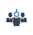 hiring employee icon vector image vector image