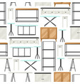 interior and furniture pattern shelving vector image