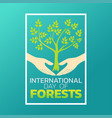 international day of forests logo icon design vector image vector image