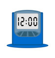 isolated digital alarm clock icon vector image vector image