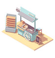 isometric retail kiosk or cart stand vector image vector image