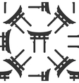 Japan Gate Torii icon pattern on white vector image