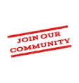 Join Our Community Watermark Stamp vector image