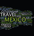 legal air travel to mexico fly now or suffer vector image vector image
