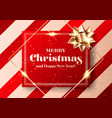 merry christmas chic background shiny red and vector image vector image