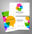 messages logo vector image vector image