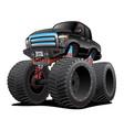monster pickup truck cartoon vector image vector image