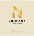 n company logo design with visiting card vector image vector image