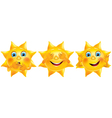 Not see not hear not say funny sun vector image vector image