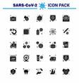 novel coronavirus 2019-ncov 25 solid glyph icon vector image vector image