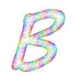 Rainbow Sketch Font Design vector image vector image