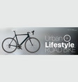 realistic road bike vector image