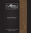 restaurant food menu vector image