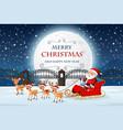santa on merry christmas template vector image vector image