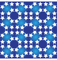 Seamless pattern of white stars vector image vector image