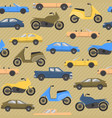seamless pattern with cars and motorbikes vector image