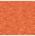 Seamless red brick wall vector image vector image