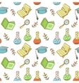 Seamless school pattern vector image