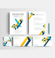 set of business brochure and card template vector image vector image