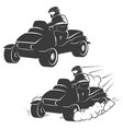 set of quad bike with driver icons isolated on vector image vector image