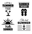 set of summer posters and cards vector image vector image