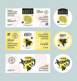 Set of templates label for honey vector image vector image