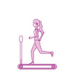 silhouette healthy woman doing exercise in the vector image vector image