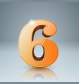 six icon on grey background vector image